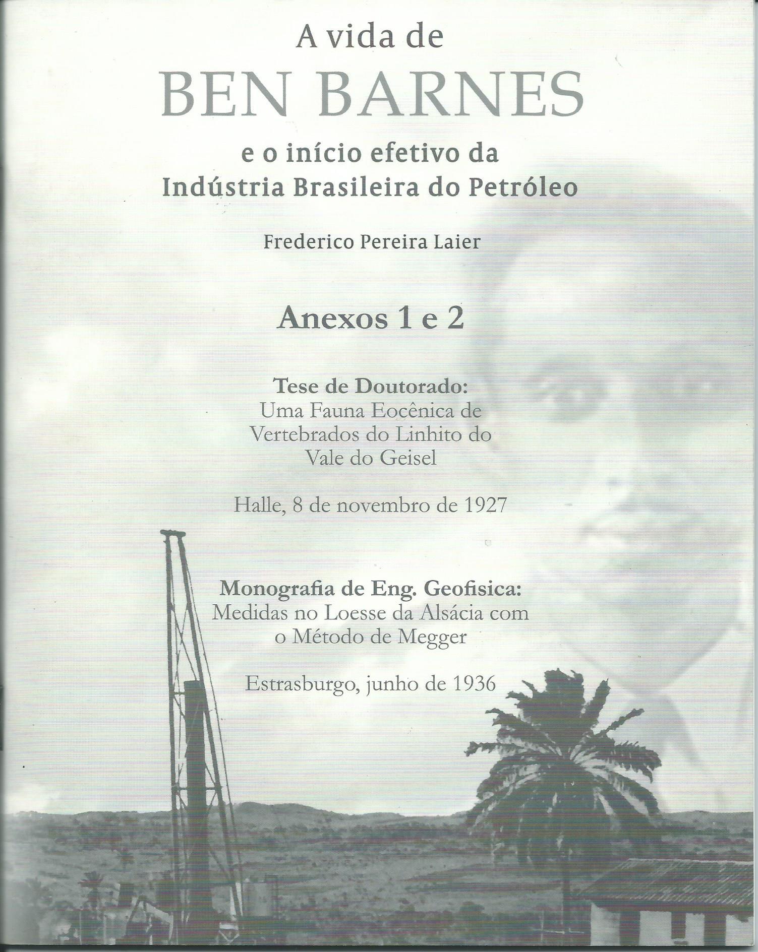 Prof. Barnes e o início da Geologia e Geofísica do Petróleo no Brasil